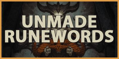 Unmade Runewords